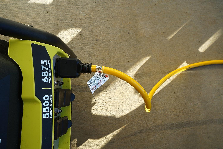Yellow Jacket 1493 10//4 Heavy-Duty STW 30-Amp//250-Volt Nema L14-30 Generator Power Cord 25-Feet