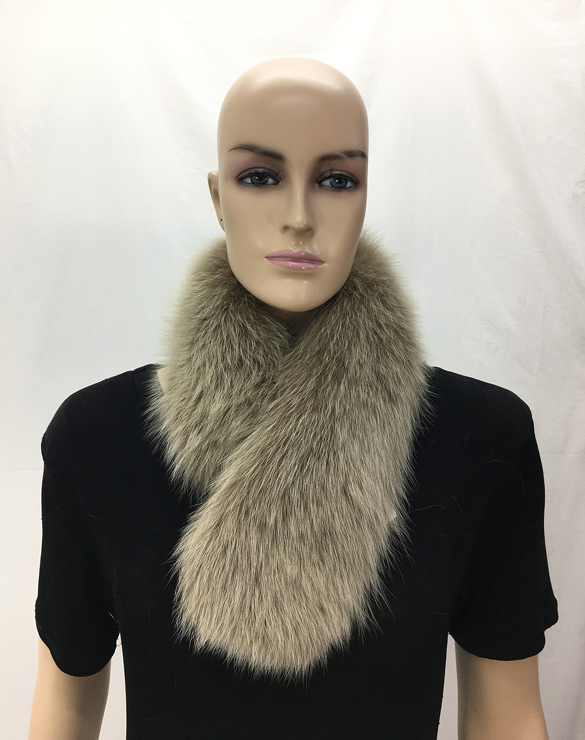 HIMA 100% Real Fox Fur Headband (Beige) by Hima (Image #2)