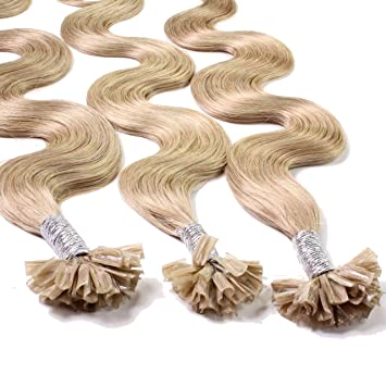 Just Beautiful Hair 50 x 0,8g Extensiones de Queratina - 40cm - Corrugado, Colore #18 Castaños Rubio: Amazon.es: Belleza