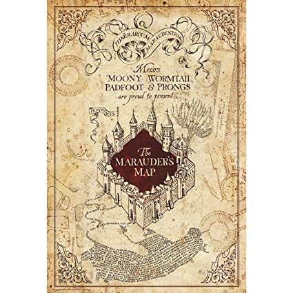 ABYstyle - Harry Potter - Poster - Marauder Map (91.5x61): Amazon.de ...