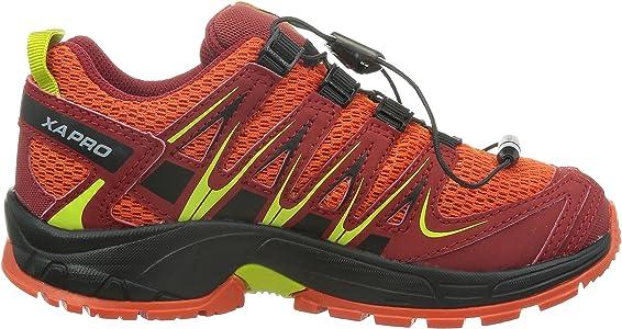 Salomon XA Pro 3D J - Zapatillas para Correr en montaña de Material Sintético para niño Rojo Rot (Tomato Red/Flea/Gecko Green) 32: Amazon.es: Zapatos y complementos