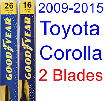 2009 - 2015 Toyota Corolla S hoja de limpiaparabrisas de repuesto Set/Kit (Goodyear limpiaparabrisas blades-premium) (2010,2011,2012,2013,2014): Amazon.es: ...