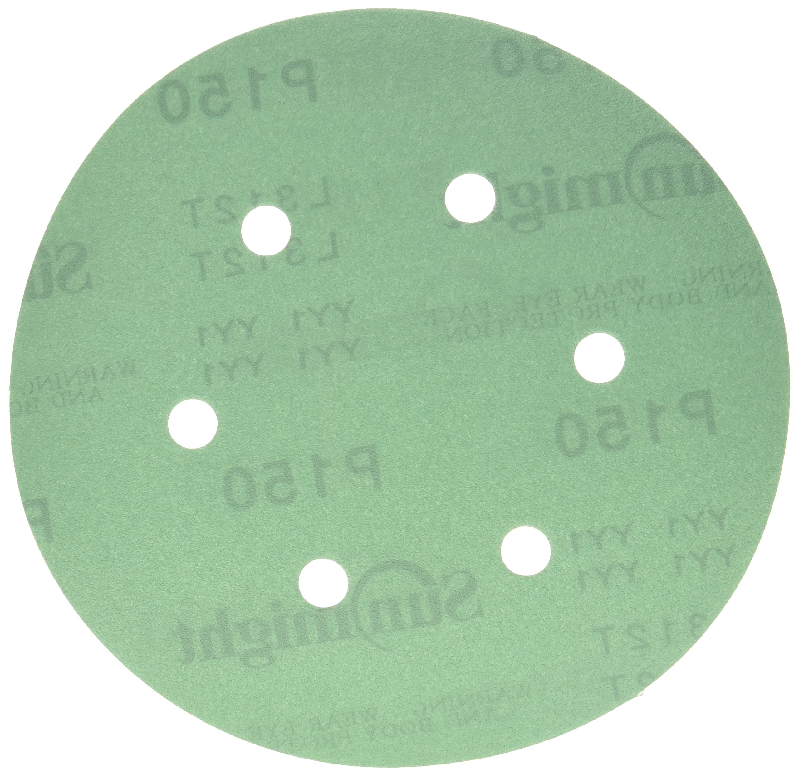 Sunmight 01809 1 Pack Velcro Disc Grit (Film - 6'' 6 Hole 150)
