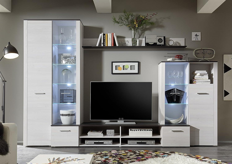 Parete soggiorno, Pensile Elsa Bianco opaco: Amazon.it: Casa e cucina