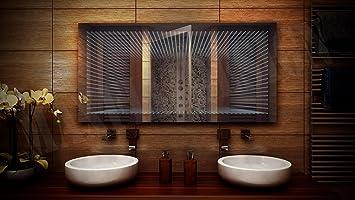 Spiegel Led Badezimmerspiegel Beleuchtung 3d Tiefeneffekt Grosse