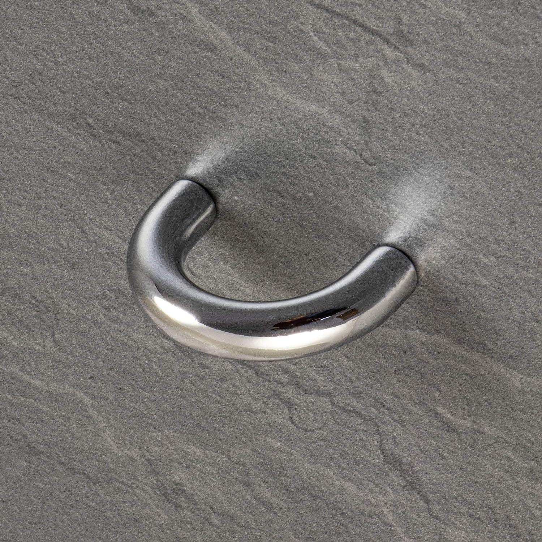 1/pieza con tornillos /Modelo H1030/Asa de metal para muebles /& kommoden /Tirador cromado pulido caj/ón Cocina/ gedotec Dise/ño arco Mango 32/mm/