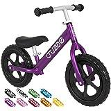 Cruzee UltraLite Balance Bike (4.4 lbs) for Ages 1.5 to 5 Years | BW Purple