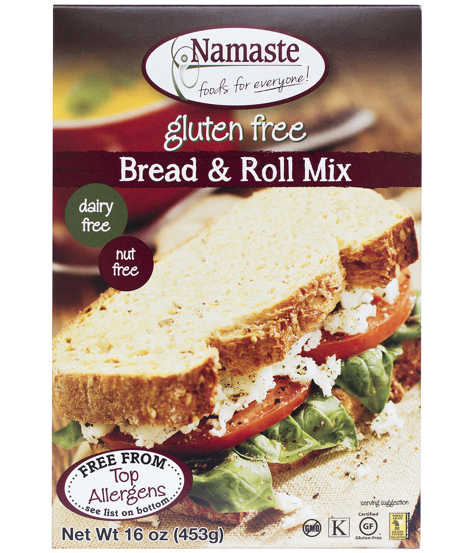 Namaste Foods Gluten Free Bread & Roll Mix, 16-Ounce (Pack of 6) by Namaste Foods