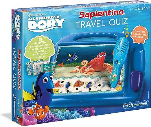 Clementoni Travel Quiz - Juego de Viaje (versión Italiana) Buscando a Dory Azul