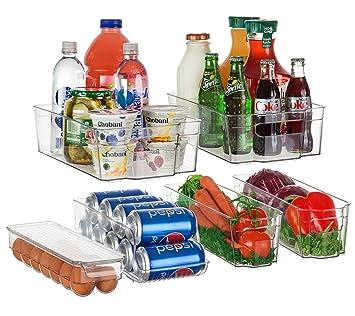 perlli nevera y congelador – juego de bandejas de almacenamiento organizador | Smart Cocina organización solución