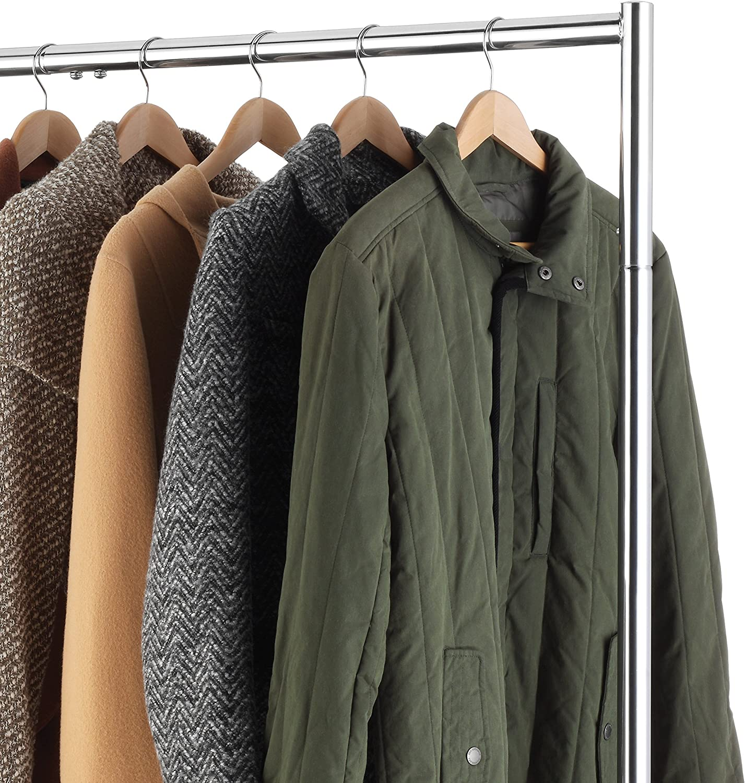 Silver Whitmor Commercial Garment Z-Rack Black