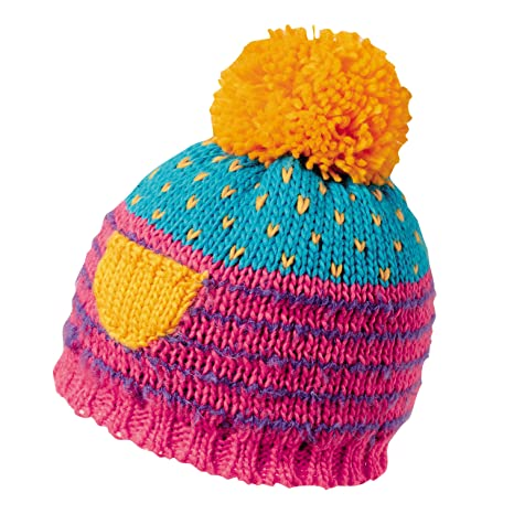 ba8108aad82 Amazon.com  Turtle Fur Fizzy Pop Girl s Fleece Lined Pom Winter Hat ...