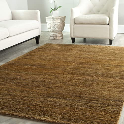 Safavieh Bohemian Collection BOH211A Hand-Knotted Caramel Jute Area Rug 9' x 12'