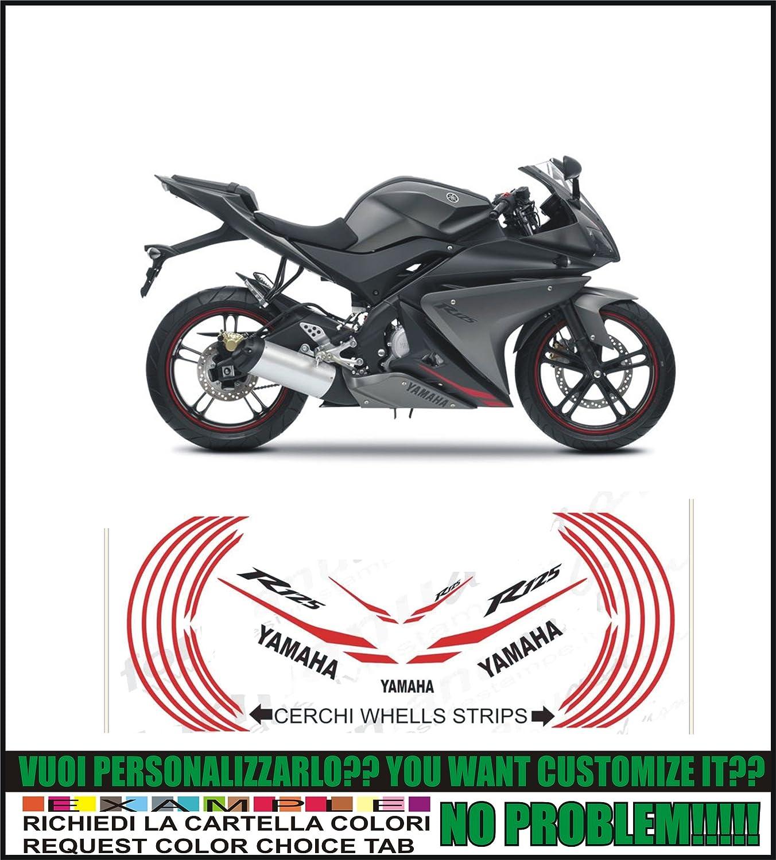 Kit adesivi decal stickers YAMAHA YZF R125 2013 black possibilit/à di personalizzare i colori