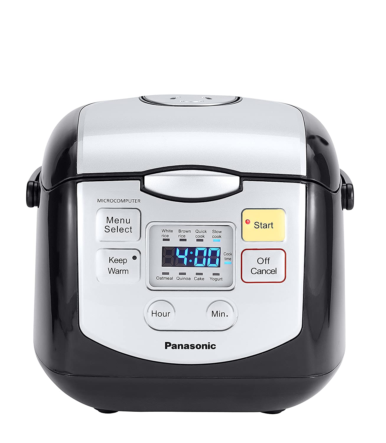 Panasonic 4 Cup (Uncooked) Microcomputer Controlled Rice Cooker, Black/Silver SR-ZC075K