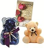 Skylofts Teddy Bear Chocolate Gift Pack With A Cute Teddy And Birthday Card