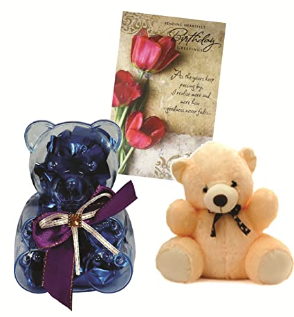 Skylofts Teddy Bear Chocolate Gift Pack With A Cute Teddy And