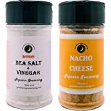 Premium | POPCORN SEASONING | Variety 2 Pack | Sea Salt & Vinegar Popcorn Seasoning | Nacho Cheese Popcorn Seasoning | Crafted in Small Batches with Farm Fresh Herbs for Premium Flavor and Zest