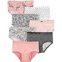 Carter's 7-Pack Stretch Cotton Undies Pink Animals-Print Underwear