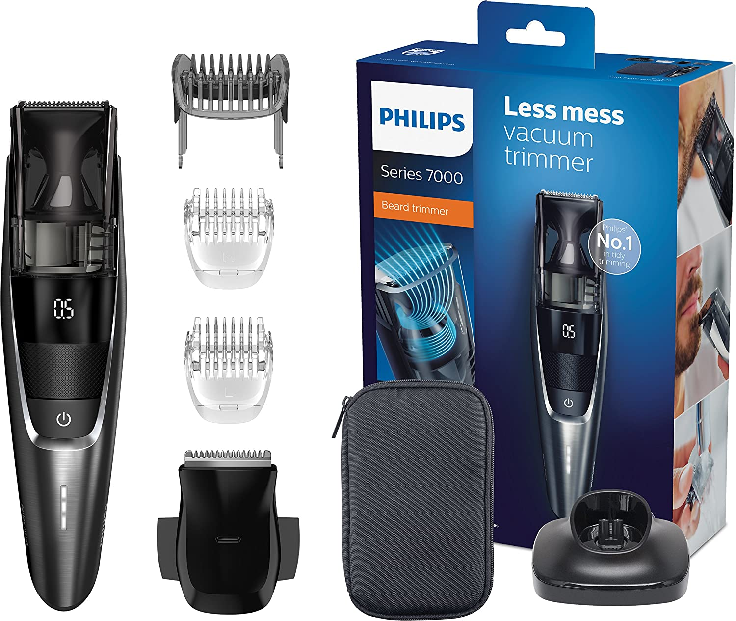 Philips BEARDTRIMMER Series 7000 BT7520/15 depiladora para la ...