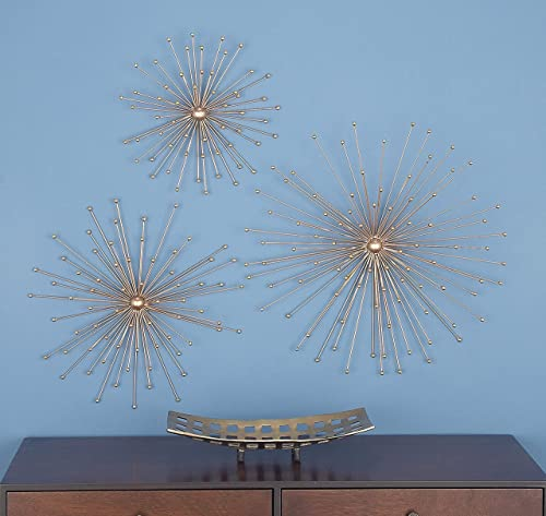 Deco 79 74825 Metal Star Wall Decor Set of 3