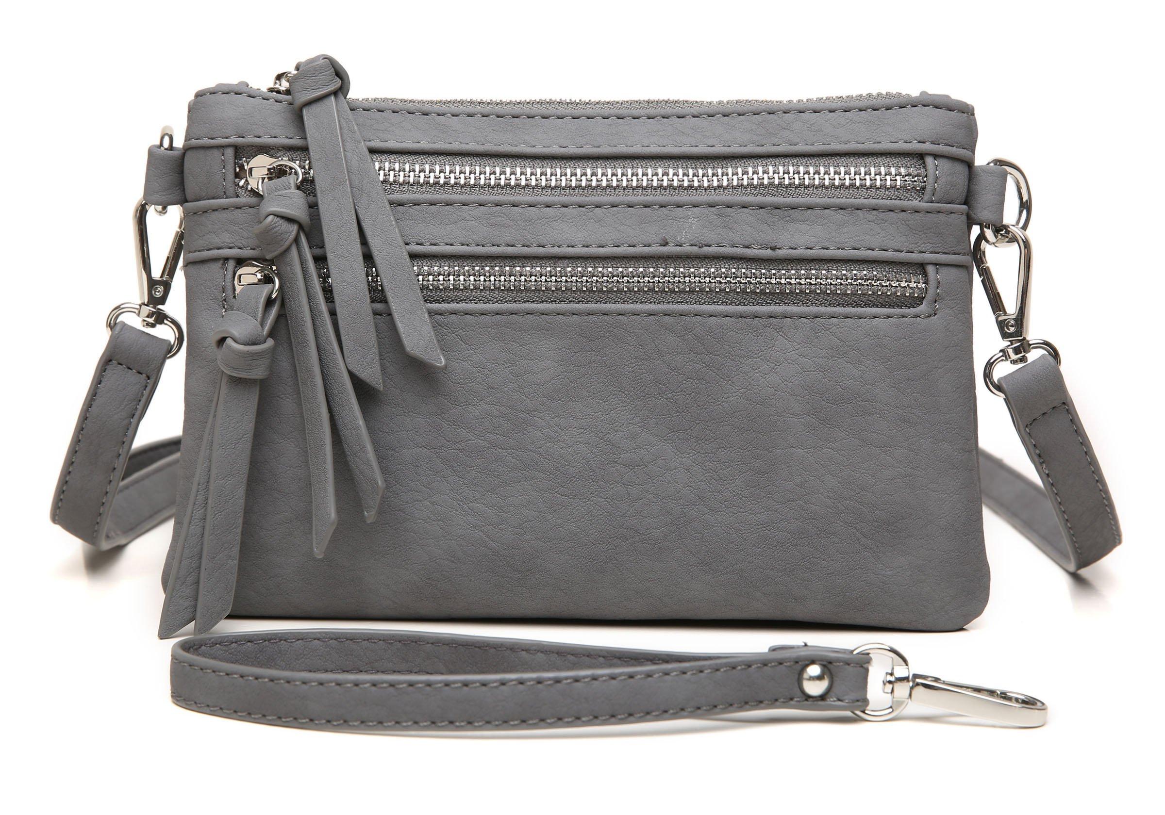 Aitbags Multi-Zipper Pocket Crossbody Handbag Lightweight Purse Functional Clutch with Wristlet by Aitbags (Image #1)