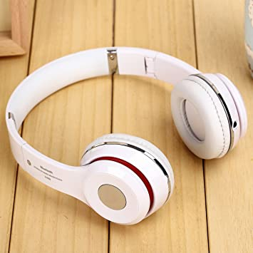Wireless S460 on-ear auriculares Bluetooth estéreo inalámbrico auriculares para teléfono móvil (blanco): Amazon.es: Electrónica