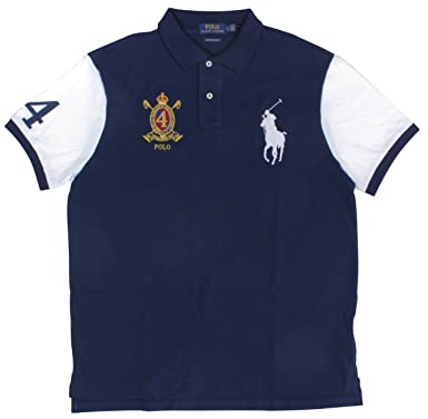 3fc561d2d Amazon.com: Polo Ralph Lauren Men's Custom Slim Fit Big Pony Banner Stripe Polo  Shirt: Clothing