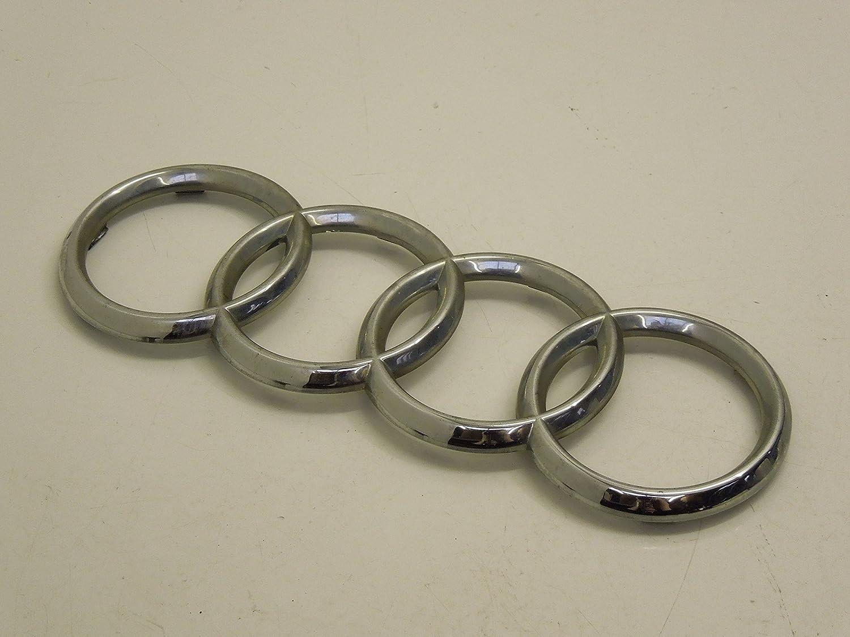 8N0853605 Genuine Audi Rings Front Grill Badge Emblem Chrome Nos