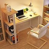 WestWood 4 Tiers Shelf Bookcase Corner Computer Desk Home Office PC Laptop Table Furniture Study Gaming Desktop Workstation Morden CD07 Walnut