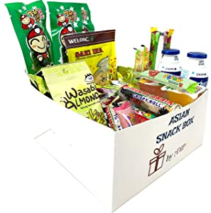 Asian Variety Snack Box (30 Count) Gift Basket for Adults, College Student & Military Care Package - Birthday Package for Dad, Men, Women, Boys, Girls, Teens, Kids