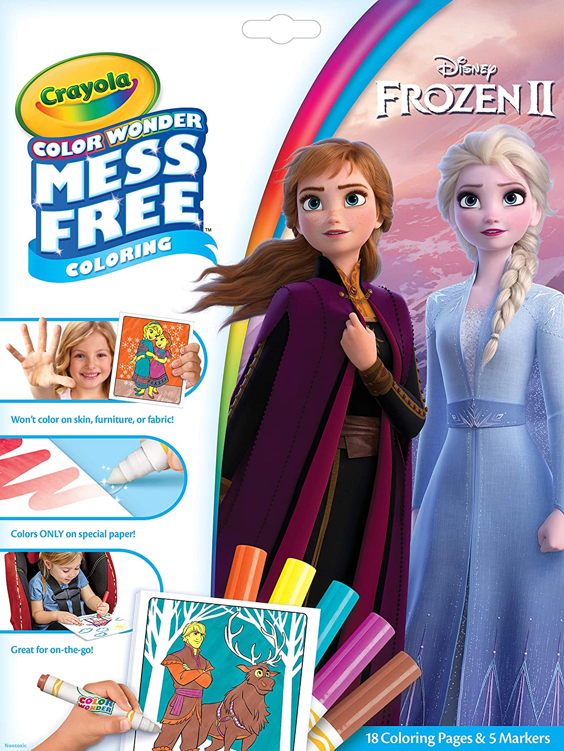 Crayola Color Wonder Frozen Coloring Book   Markers  Mess Free Coloring  Gift for Kids  Age 3  4  5  6  Styles May Vary