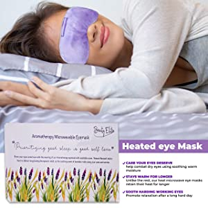 Limited Time only !!Aromatherapy Microwavable Eyemask, Moist Heated Eye Mask for Dry Eyes, Reusable Heat Eye Compress Pad with Washable Cover and Lavender Aroma