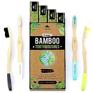 CURVAN - Cepillos de dientes de Bambú 100% Naturales Ecológicos ...