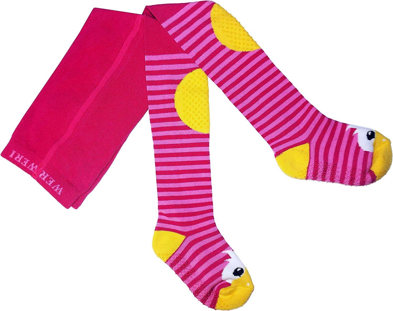 Weri Spezials ABS Krabbelstrumpfhose mit der Ente in Pink