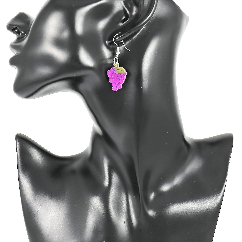 2f7feded295a Moda Joyería Chicas Pequeña Acrílico Púrpura Uva soltar Colgar Aretes por  Mujer  Amazon.es  Joyería