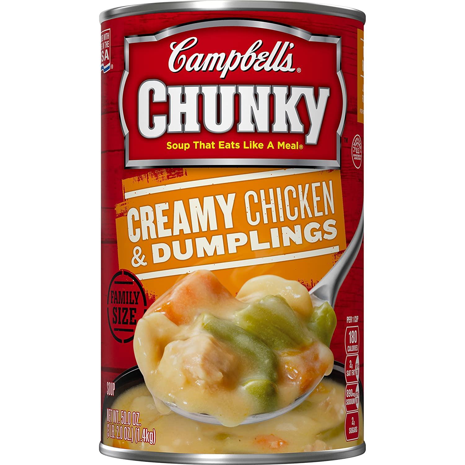 Amazon.com : Campbells Chunky Soup, Creamy Chicken & Dumplings, Family Size, 50 Ounce (Pack of 6) : Campbell S Chiken And Dumpling Soup : Grocery & Gourmet ...