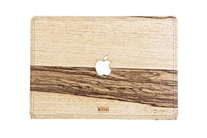 super popular 80d3f 642d8 Amazon.com: WOODWE Real Wood MacBook Case Cover Skin Sticker Decal ...