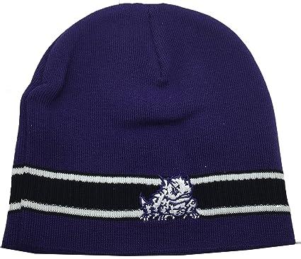 innovative design c7442 fe2e4 discount code for ncaa tcu texas christian horned frogs cuffless knit  beanie cap purple 6cc51 37d7d