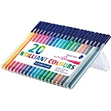 Staedtler 323 SB20 Triplus Colour Fibre-Tip Pen Desktop Box - Assorted Colours, Pack of 20
