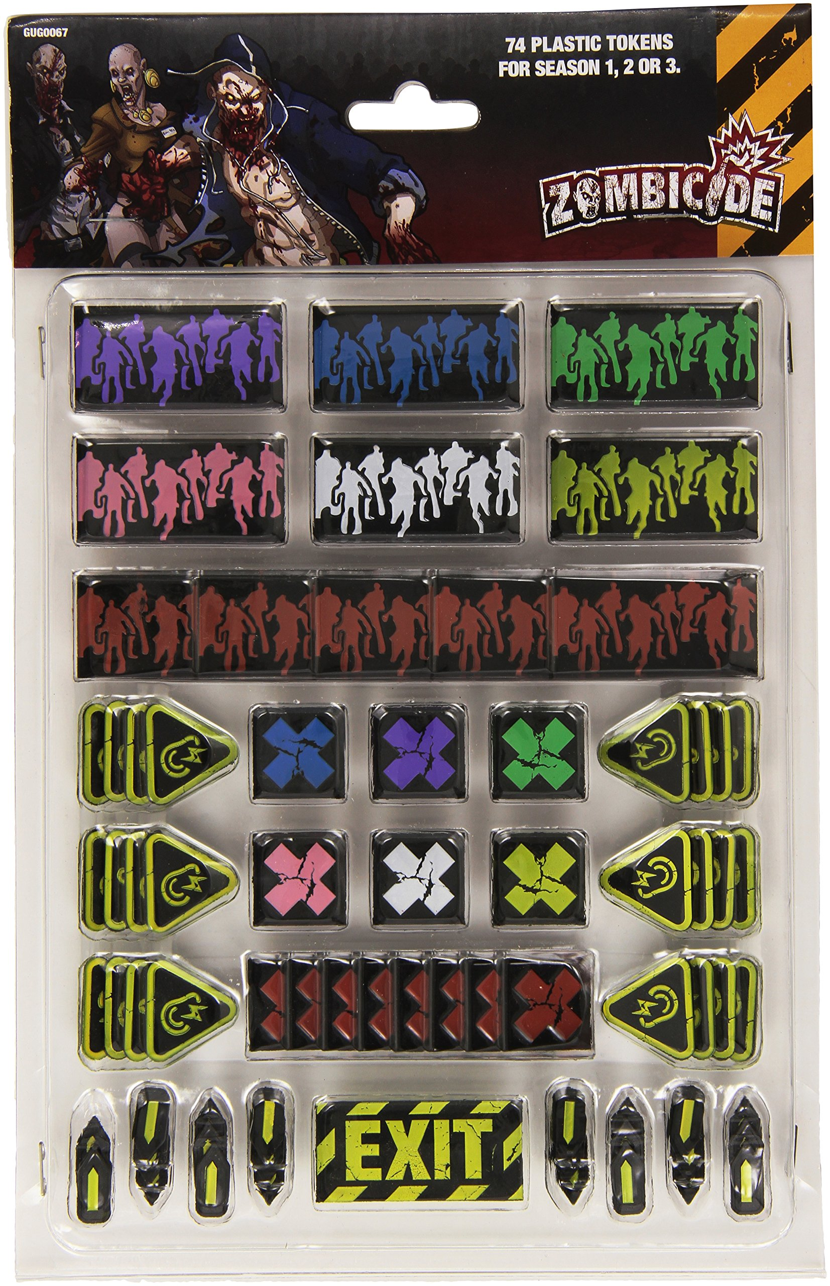 Cool Mini or Not Zombicide Plastic Token Pack - Accessories