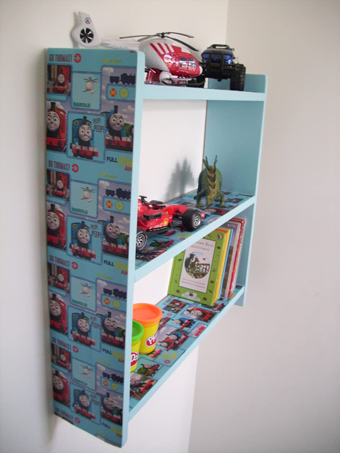 Shelves Childrens Bedroom 70cm H Boys Thomas The Tank Engine Shelves Childrens Bedroom