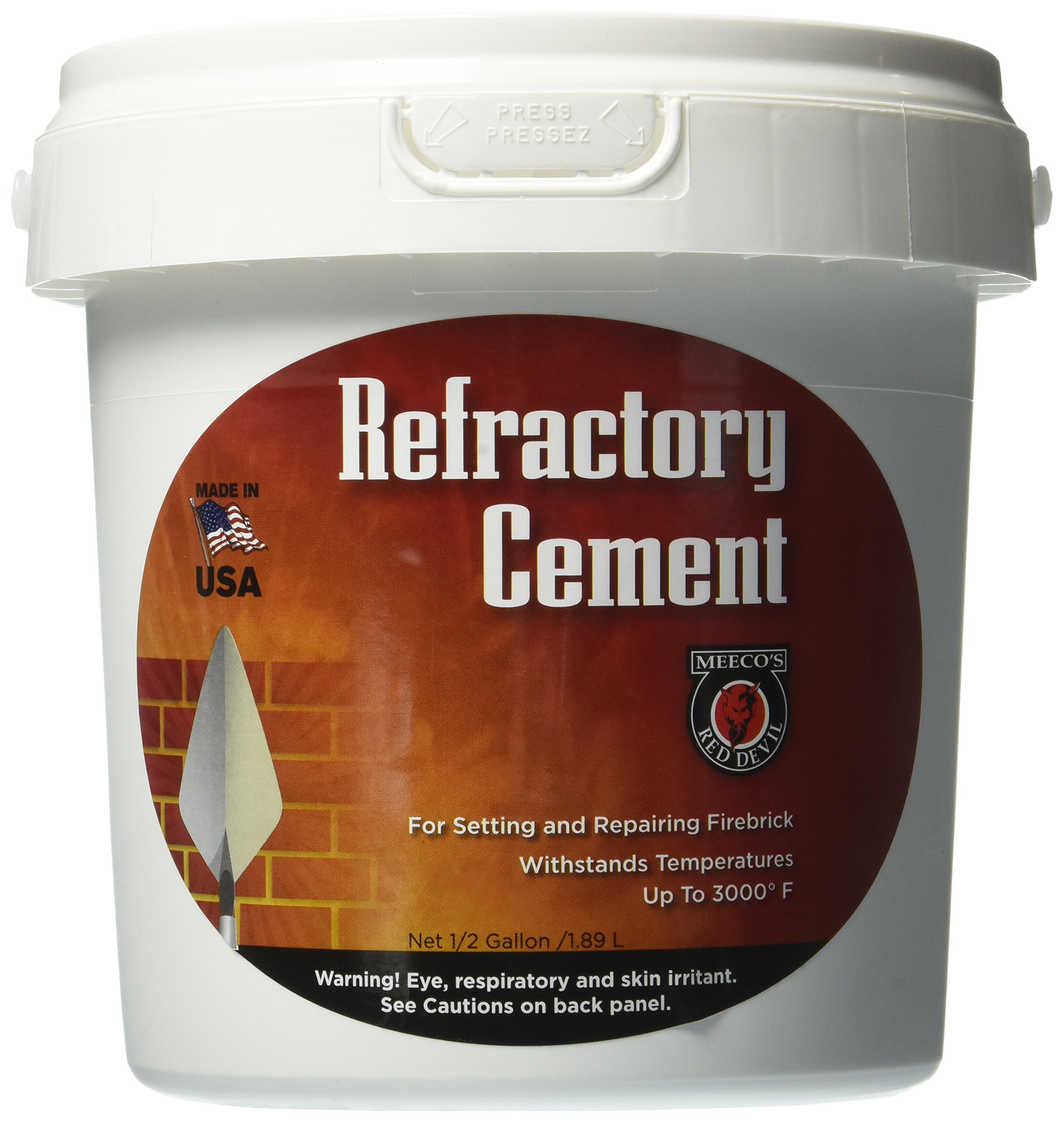 MEECO'S RED DEVIL 610 Refractory Cement - Indoor Use Only by MEECO'S RED DEVIL
