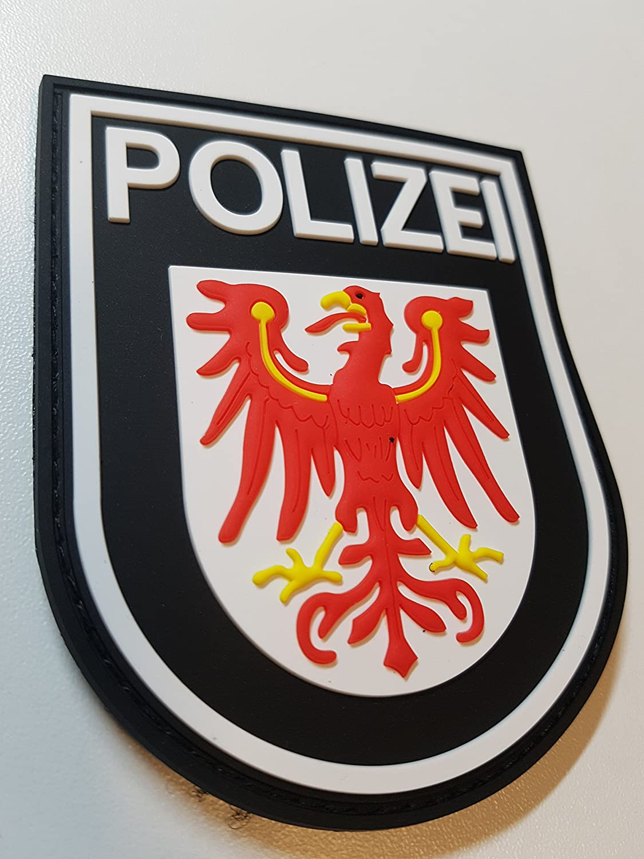 ATG Ä rmelabzeichen Polizei Brandenburg 3 D Rubber Patch (Farbig) ATG Kriminaltechnik GmbH