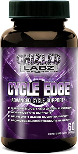 Cycle Support with Advanced Supplement Cycle Edge, Assist Liver and Organs, Prostate, Testosterone Blood Sugar and Blood Pressure. Includes Saw Palmetto, Milk Thistle, Hawthorne and More 30 Servings