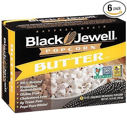 Mantequilla de palomitas negras Jewell Premium microondas, 3 ...