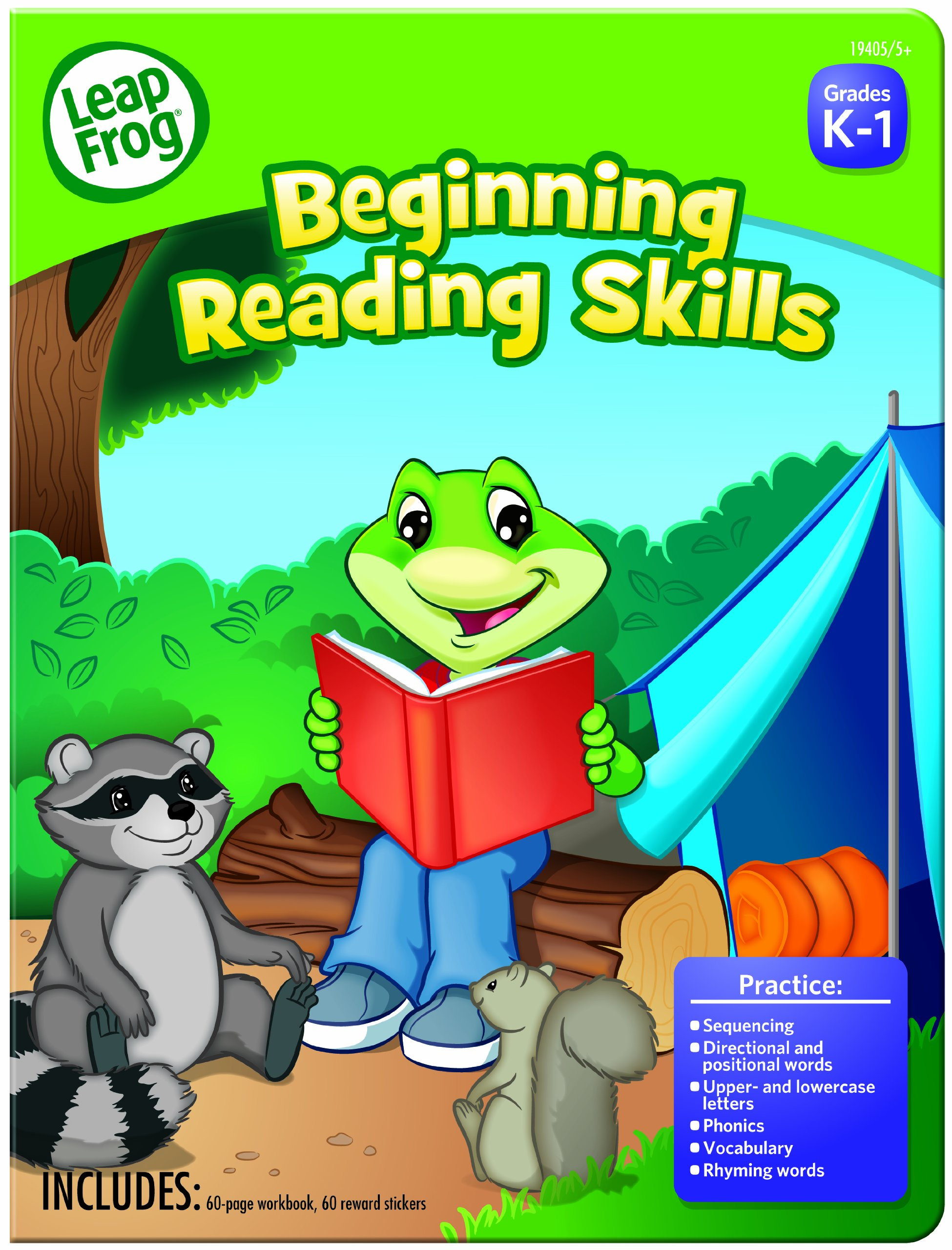 LeapFrog Beginning Reading Skills Workbook for Preschool with 60 Pages and 60 Reward Stickers (19405)