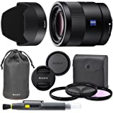Sony Sonnar T FE 55mm f/1.8 ZA Full Frame Lens with AOM Pro Kit. Includes: UV Filter, Circular Polarizing Filter…