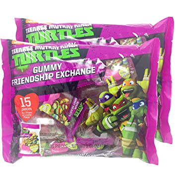 Amazon.com : Teenage Mutant Ninja Turtles Heart Shaped Gummy ...
