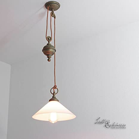 Premium - Lámpara de techo de latón envejecido E27 hasta 60 ...